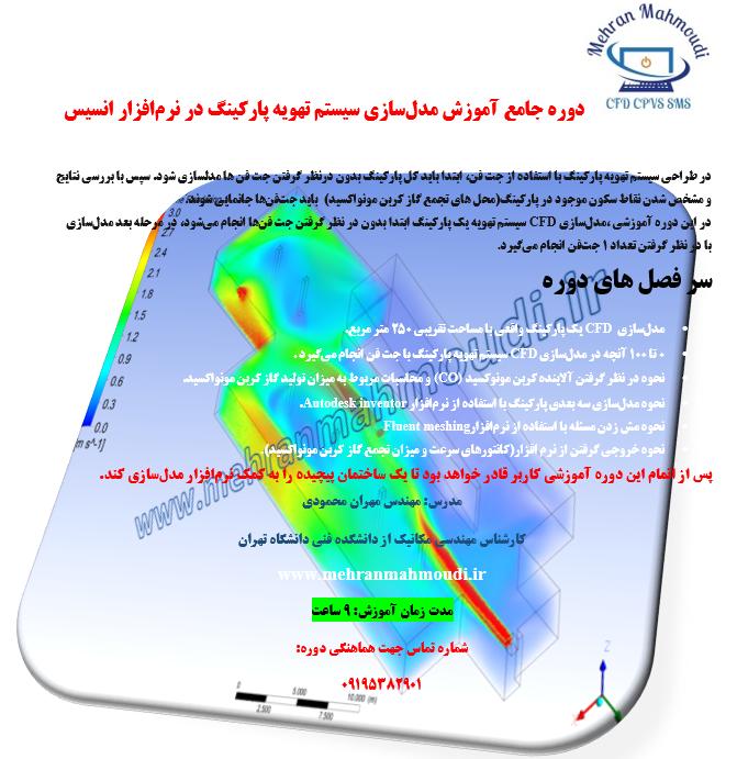 مدلسازی CFD سیستم تهویه پارگینگ