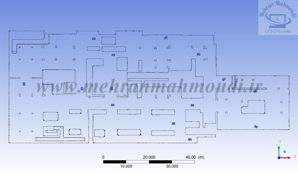 Parking ventilation system simulation