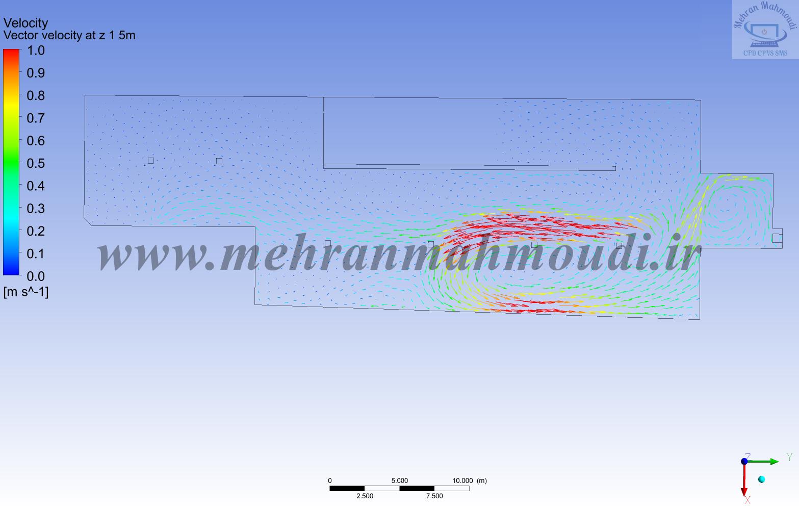 CFD of parking garage ventilation system